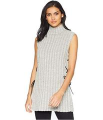 BCBGMAXAZRIA Stripe Tunic with Lace-Up Detail