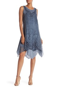 Simply Couture Layered Crochet Knit Tunic