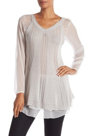 Simply Couture Sheer Knit Tunic