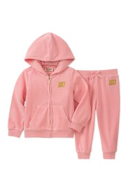 Juicy Couture Light Pink Choose Juicy Velour Hoodi