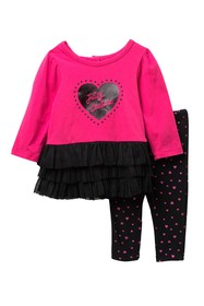 Juicy Couture Heart Tulle Bottom Tunic & Leggings