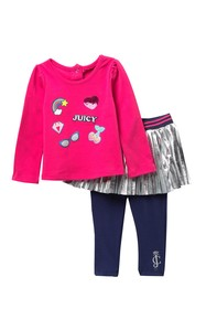 Juicy Couture Graphic Tee & Skeggings Set (Baby Gi