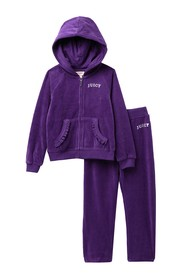 Juicy Couture Purple Heart Velour Track Suit (Baby