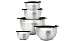 Meal Prep Stainless Steel Mixing Bowls Set with Ai