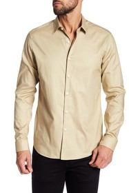 Theory Long Sleeve Truce Oxford Slim Fit Woven Shi