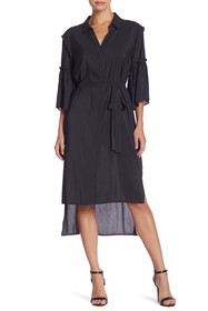 BCBGeneration Shirring Sleeve Shirt Dress