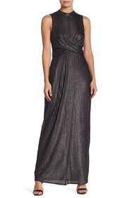 BCBGeneration Metallic Maxi Dress