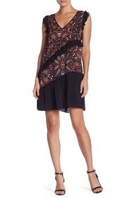 BCBGeneration Ruffle Floral Print Dress