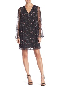 BCBGeneration Embroidered Bow Back Dress