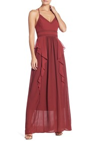 BCBGeneration Mix Media Maxi Dress