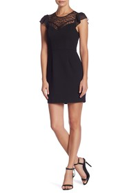 BCBGeneration Flirty Sleeve Fit & Flare Dress