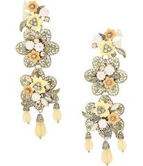 Marchesa Force of Nature Chandelier Floral Earring