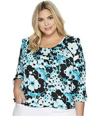 MICHAEL Michael Kors Plus Size Sprng Scoop Neck To
