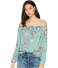 Roxy Paradise Eyes Long Sleeve Cold Shoulder Top