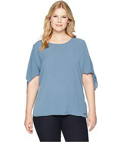 MICHAEL Michael Kors Plus Size Cold Shoulder Bow T