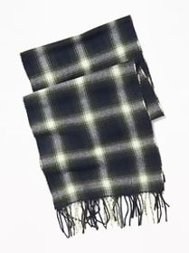 Patterned Flannel Scarf for Men