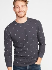 Built-In Flex Thermal-Knit Tee for Men