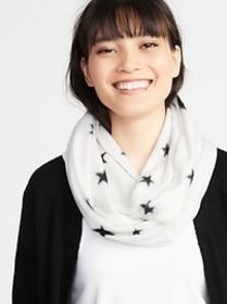 Patterned Performance Fleece Infinity Scarf for Wo