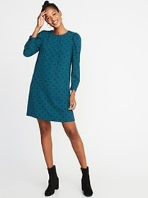 Crepe Shift Dress for Women