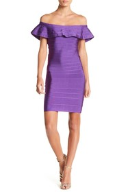 Wow Couture Off-the-Shoulder Ruffle Dress
