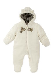 Juicy Couture Silky Faux Fur Hooded Pram (Baby Gir