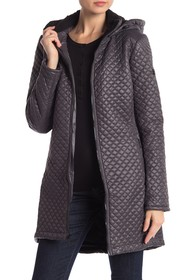 BCBG Missy Mini Quilted Zip Front Jacket