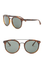 Burberry 53mm Round Acoustic Sunglasses