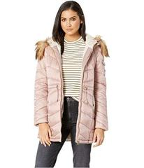 Jessica Simpson Cinched Waist Hooded Puffer with A