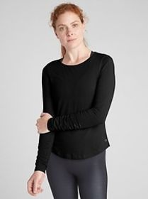 GapFit Long Sleeve Ruched T-Shirt in Supima&#174 C