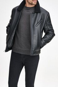 Andrew Marc Maxton Faux Leather & Faux Shearling C