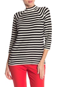Marc Jacobs Mock Neck Striped Top