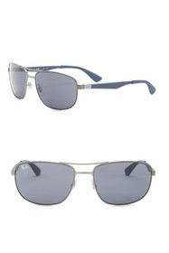 Ray-Ban 61mm Rectangle Sunglasses