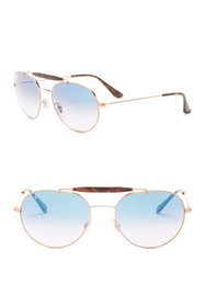 Ray-Ban Highstreet 53mm Aviator Sunglasses