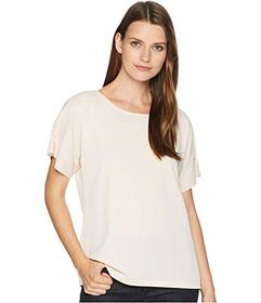 Calvin Klein Short Sleeve Top with Pearl Detail