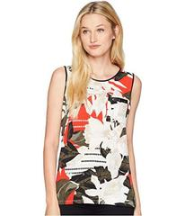 Calvin Klein Printed Sleeveless One-Pocket Tee