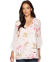 Calvin Klein Printed Flare Sleeve Blouse