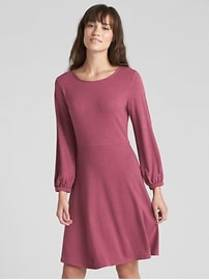 Softspun Long Sleeve Fit and Flare Dress