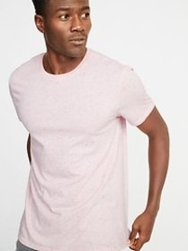Soft-Washed Textured Crew-Neck Tee for Men