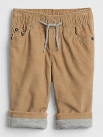 Cord Lined Pull-On Pants