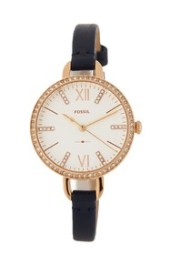 Fossil Women's Annette Crystal Accented Leather St
