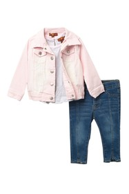 7 For All Mankind Denim Jacket 3-Piece Set (Baby G