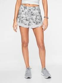 Printed Mesh Racer Run Short 4&#34