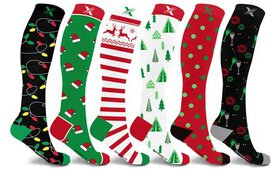 XTF Holiday Collection Knee-High Compression Socks