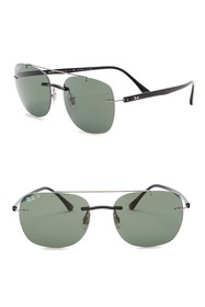 Ray-Ban 55mm Polarized Square Sunglasses