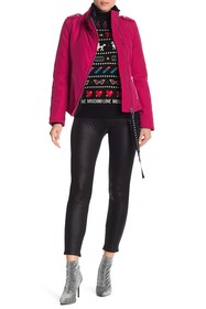 LOVE Moschino Front Zip Faux Fur Lined Jacket