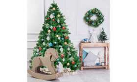 Costway 6FT PVC Artificial Christmas Tree 1000 Tip