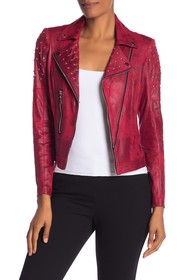 Insight Faux Leather Studded Jacket