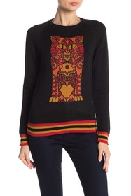 Anna Sui Printed Knit Pullover
