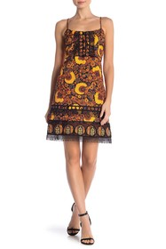 Anna Sui Paisley Print Sleeveless Dress