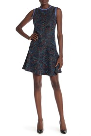 Anna Sui Floral Daze Jacquard Sleeveless Dress